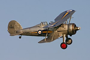 A Gloster Gladiator biplane