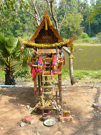 Lao people - A spirit house near Wat Kham Chanot, Udon Thani Province