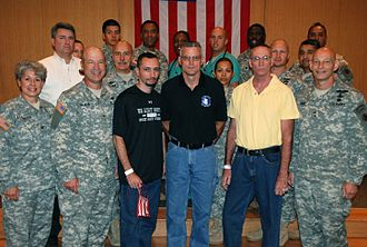 Operation Jaque - Gonsalves, Stansell and Howes (left to right, center) on July 4, 2008