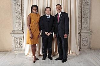 Gordon Bajnai - Bajnai with U.S. President Barack Obama and U.S. First Lady Michelle Obama.