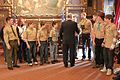 Governor of Minnesota Governor Dayton meets with Boy Scout Troop 218 of Shakopee (6755333555).jpg