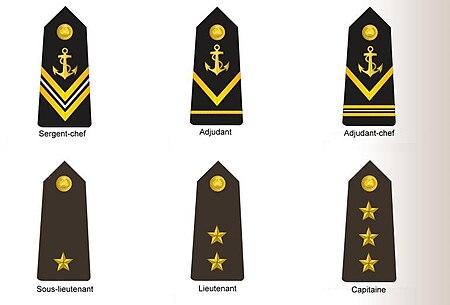 شارات الخاصة برتب القوات البحرية الضباط المرؤوسين