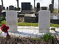 Grafstenen vliegeniers WW2 kerkhof Wierhuizen.JPG
