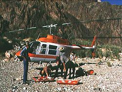 Grand Canyon rescue Helicopter, 1978