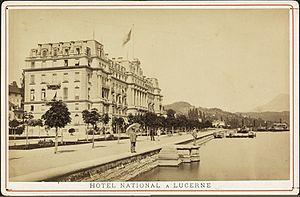Grand Hotel National - Postcard 1870, Grand Hotel National