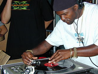"Grand Wizzard Theodore - Theodore doing his famous ""needle drop"" at the Experience Music Project in Seattle 2002"