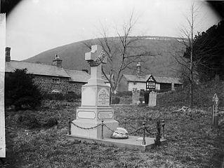 Grave of John Ceiriog Hughes, Llanwnnog