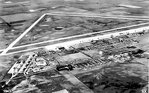 Great Bend Army Air Field - 1943 oblique airphoto