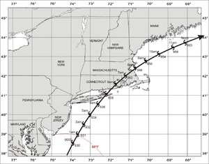 Great Colonial Hurricane of 1635 - Image: Great Colonial Hurricane of 1635 track