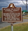 Great River Road Sign for St. John the Baptist Catholic Church.JPG