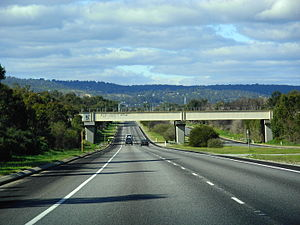 Great Eastern Highway Bypass - Great Eastern Highway Bypass in Hazelmere looking east to the Darling Scarp