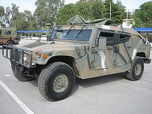 Hellenic Vehicle Industry - ELVO HMMWV M1114GR (2003), developed for Hellenic Vehicle Industry by Plasan Sasa.