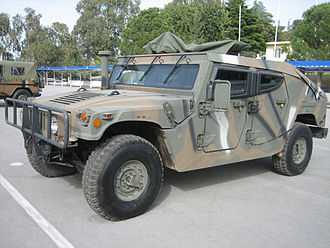 Hellenic Vehicle Industry - ELVO HMMWV M1114GR (2003), developed for Hellenic Vehicle Industry by Plasan Sasa.