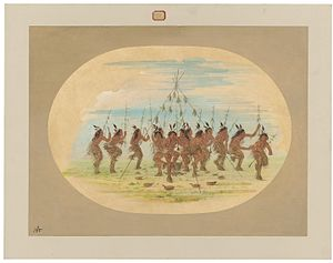 Green Corn Ceremony - Image: Green Corn Dance Minatarrees C16946