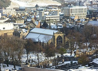 Greyfriars Kirk - Greyfriars seen from Edinburgh Castle