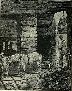 Black Country - Mining the thick coal seam at one of the Earl of Dudley's pits in the 1870s