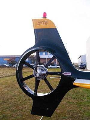Guimbal Cabri G2 - Cabri fenestron tail rotor