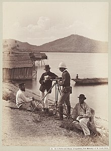 H. O. Forbes and officers of expedition, Port Moresby State Library Victoria.jpg