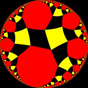 Snub tetraapeirogonal tiling - Image: H2 snub 24ib