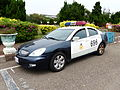 HCPD Mitsubishi Galant Grunder Police Car Parked at Hukou Camp 20140329.jpg