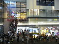 HK night Causeway Bay Hennessy Road 12-Aug-2012 Hysan Place entrance visitors.JPG