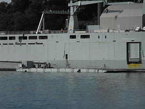 HMAS Choules Mexeflote deployed.jpg