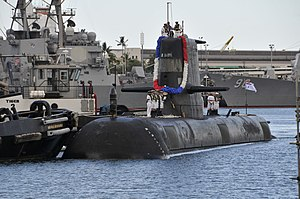 Farncomb arriving at Pearl Harbor, Hawaii ahead of the RIMPAC 2012 exercise