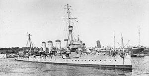Town-class cruiser (1910) - Image: HMS Gloucester (1909)
