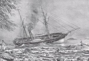 HMS Hecate (1839) aground in 1861.jpg