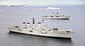 HMS Illustrious and HMS Bulwark off Norway MOD 45153815.jpg