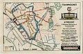 HUA-129375-Plattegrondje van de stad Utrecht met het tramwegnet en de route naar het terrein van het openluchtspel dat werd opgevoerd ter gelegenheid van het 55e.jpg