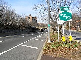 Henry Hudson Parkway - The Henry Hudson Parkway in Riverdale