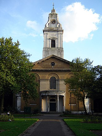 Hackney (parish) - St John's parish church, Hackney. (September 2005)