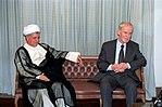 Hafez al-Assad visit to Iran, 1 August 1997 (5).jpg