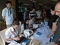 Haifa, Wikimania 2011 registrars.JPG