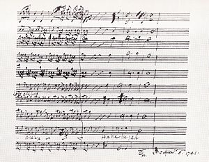 Messiah Part II - Image: Hallelujah score 1741