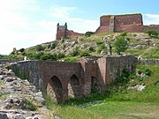 Ruins of Hammershus, a Medieval fortress.