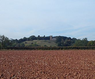 Hanbury, Worcestershire - St Mary's Church and Hill