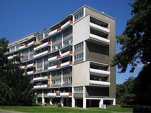 1957 in architecture - Zeilenbau housing at Interbau, by Walter Gropius