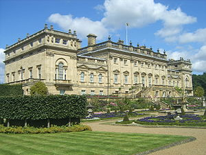 Pemberley - Image: Harewood House, seen from the garden
