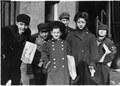 Hartford newsboys and girls. Girl in middle, Nellie, is 9 years old. Hartford, Conn. - NARA - 523180.tif