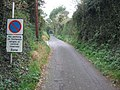 Harts Lane, near Pinhoe, with roadsign - geograph.org.uk - 1560876.jpg