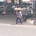 Hawking of beverage and bread local itoku market 04.jpg