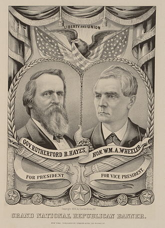 1876 United States presidential election - Hayes/Wheeler campaign poster