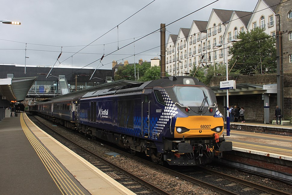 Haymarket - DRS 68007 evening commuter service