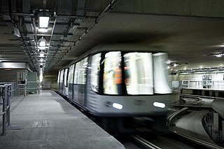 Heathrow Terminal 5 Transit Automated people mover at London Heathrow Airport