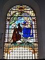 Hecq (Nord, Fr) église, vitrail N.D.du Carmel.JPG