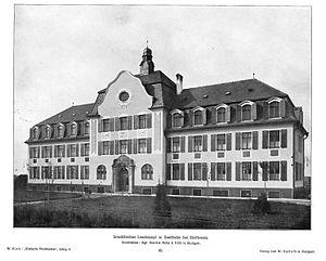 Heilbronn-Sontheim, Israelitisches Asyl um 1909, Herausgeber W.Kick , Datenbank Heuss, Signatur E005-2864.jpg