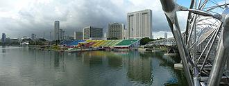 The Float @ Marina Bay - Image: Helix Bridge The Float at Marina Bay