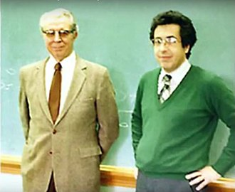 Daniel Gianola - C. R. Henderson, developer of mixed linear model methodology and Daniel Gianola, Urbana, 1986.